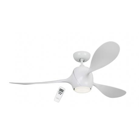 ECO FIORE λευκός με DC μοτέρ & LED φωτιστικό της Casafan