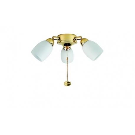 Φωτιστικό Amorie με ρυθμιζόμενα σποτς της Fantasia για ανεμιστήρες οροφής