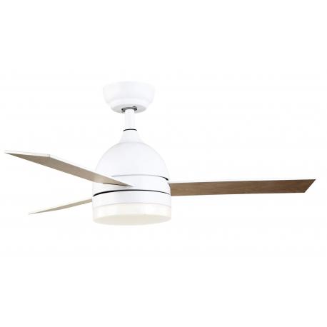 Hanna Λευκός με DC μοτέρ, LED φωτιστικό και τηλεχειρισμό της Sulion