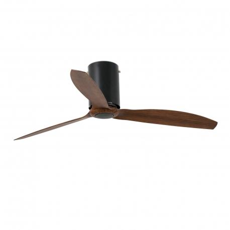 MINI TUBE μαύρος glossy με DC μοτέρ και πτερύγια όψης ξύλου της FARO