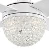 Kelcie Λευκός με LED φωτιστικό και τηλεχειρισμό της Westinghouse