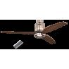 Aerodynamix Nickel/Walnut με τηλεχειρισμό και φωτιστικό by Casafan