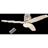 Aerodynamix Polished Chrome/White με τηλεχειρισμό και φωτιστικό by Casafan