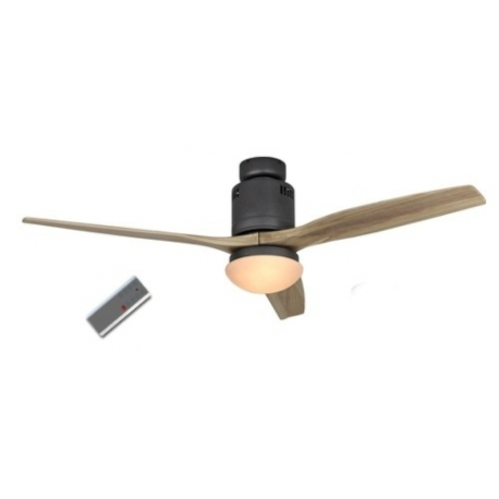 Aerodynamix Basalt Gray/Wood με τηλεχειρισμό και φωτιστικό by Casafan