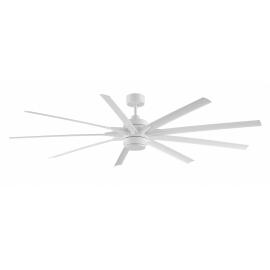 ODYN matt λευκός με DC μοτέρ και αφαιρούμενο φωτιστικό της FANIMATION